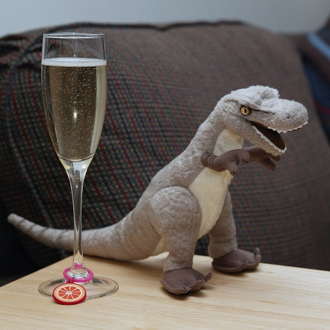 Champagne and dinosaur dreams. ;)