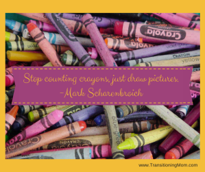 Stop counting crayons, just draw