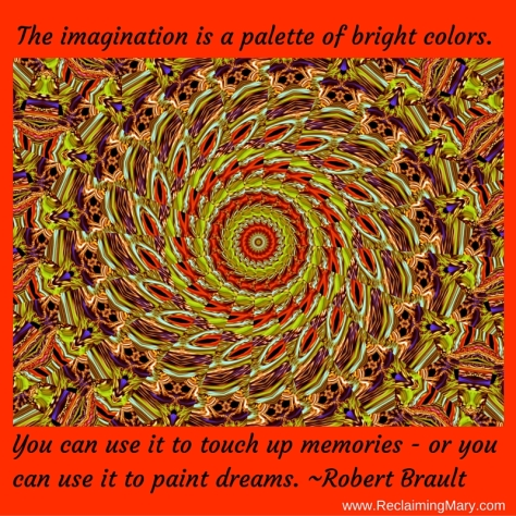 The imagination is a palette of bright colors.